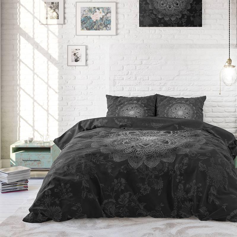 Sleeptime Elegance Katinka – Antraciet 2-persoons (200 x 220 cm + 2 kussenslopen) Dekbedovertrek