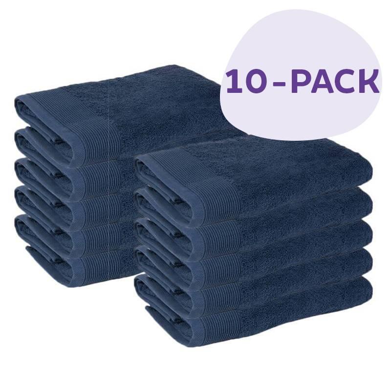 Afbeelding van 10 PACK Presence Handdoeken 50 x 100 cm Blauw Presence