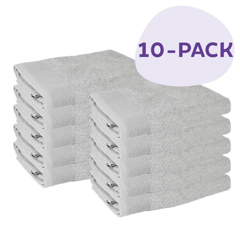 Afbeelding van 10 PACK Presence Handdoeken 50 x 100 cm Licht Grijs Presence