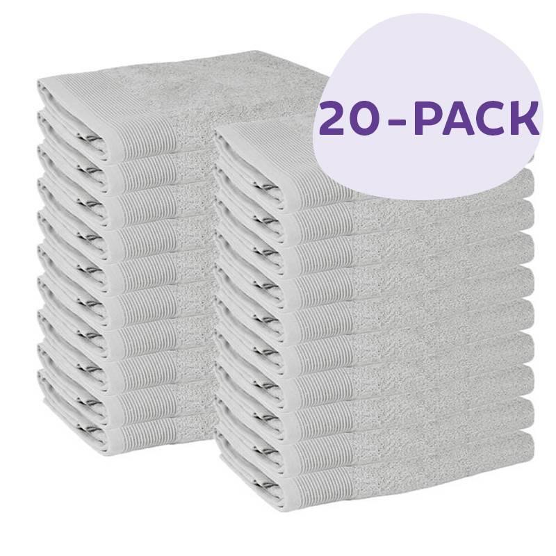 Afbeelding van 20 PACK Presence Handdoeken 50 x 100 cm Licht Grijs Presence
