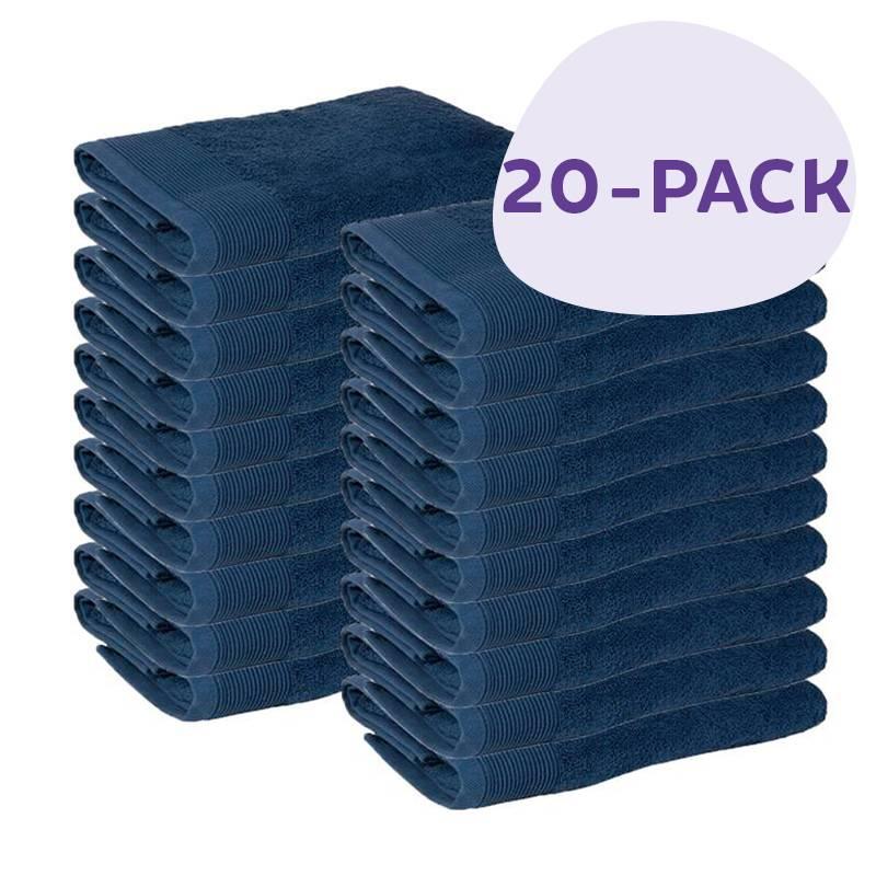 Afbeelding van 20 PACK Presence Handdoeken 50 x 100 cm Blauw Presence