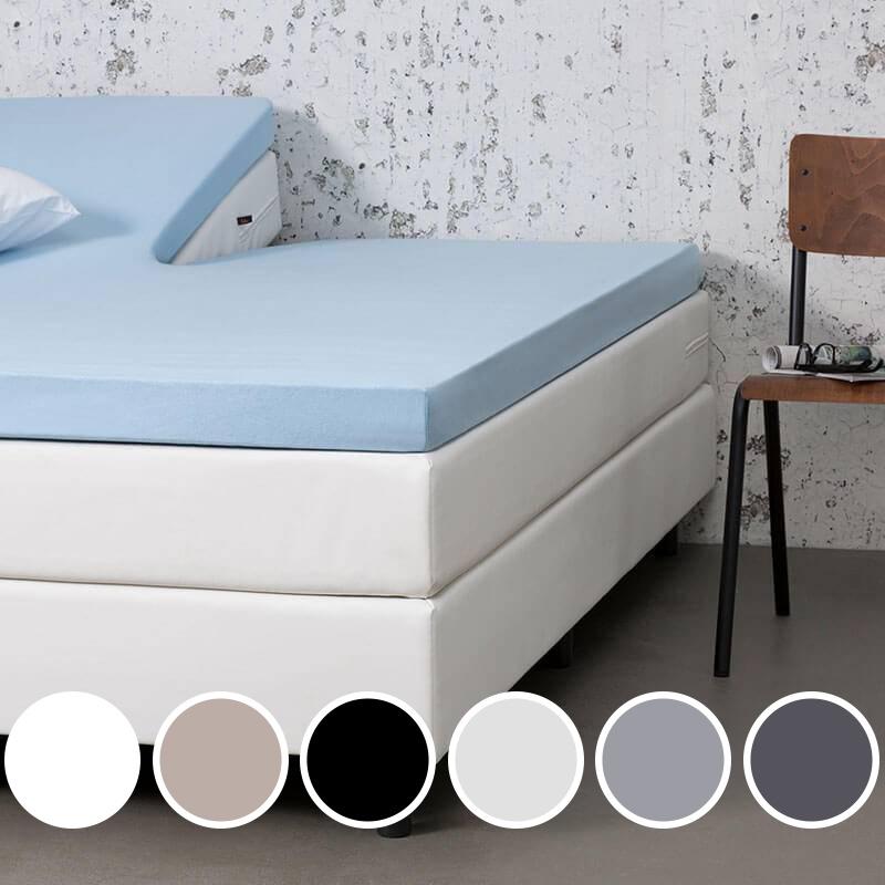 Dekbed-Discounter Jersey Stretch Splittopper Hoeslaken Kleur: Creme, 140 x 200/210/220 cm