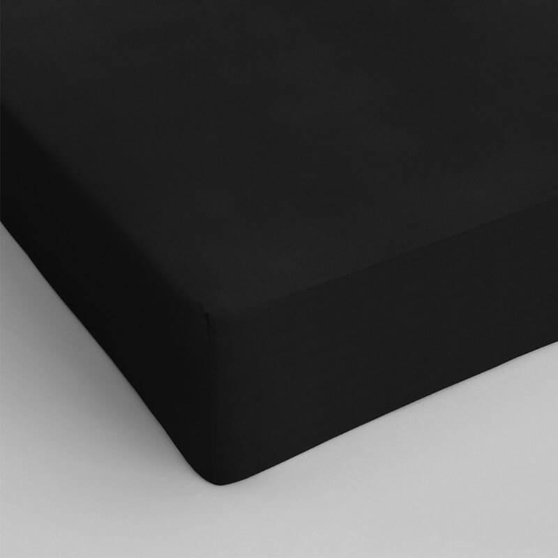 DreamHouse Bedding 2-PACK Hoeslakens Katoen - Zwart 160 x 220