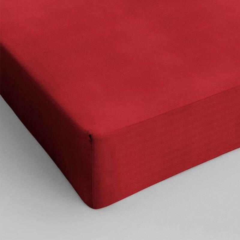 DreamHouse Bedding 2-PACK Hoeslakens Katoen - Rood 80 x 200