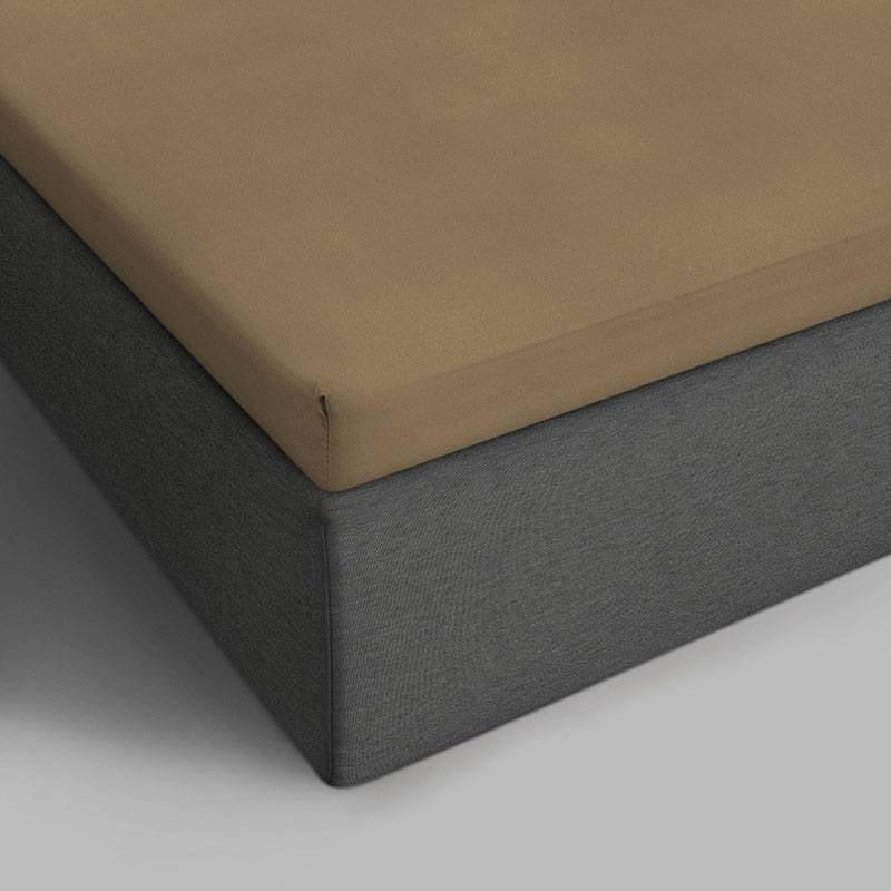 DreamHouse Bedding 2-PACK Verkoelende Katoenen Topper Hoeslakens - Taupe 90 x 220