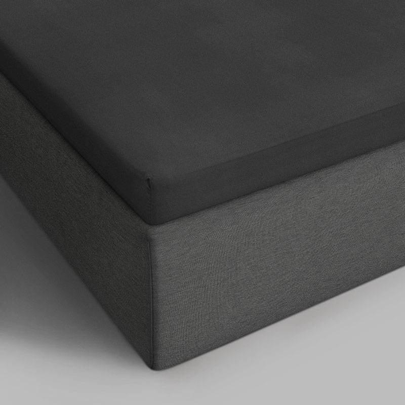 DreamHouse Bedding 2-PACK Verkoelende Katoenen Topper Hoeslakens - Antraciet 140 x 200