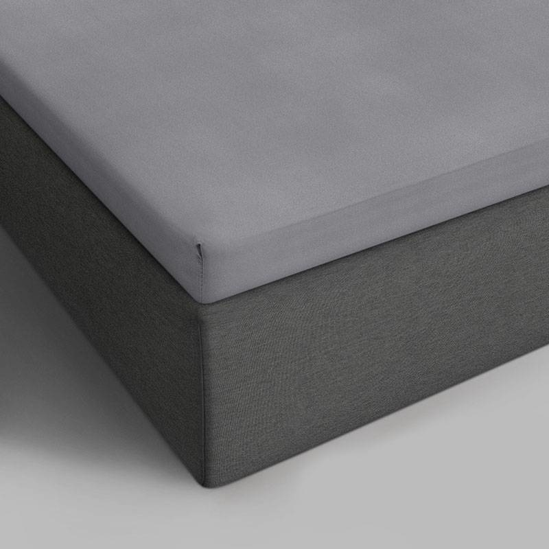 DreamHouse Bedding 2-PACK Verkoelende Katoenen Topper Hoeslakens - Grijs 140 x 200