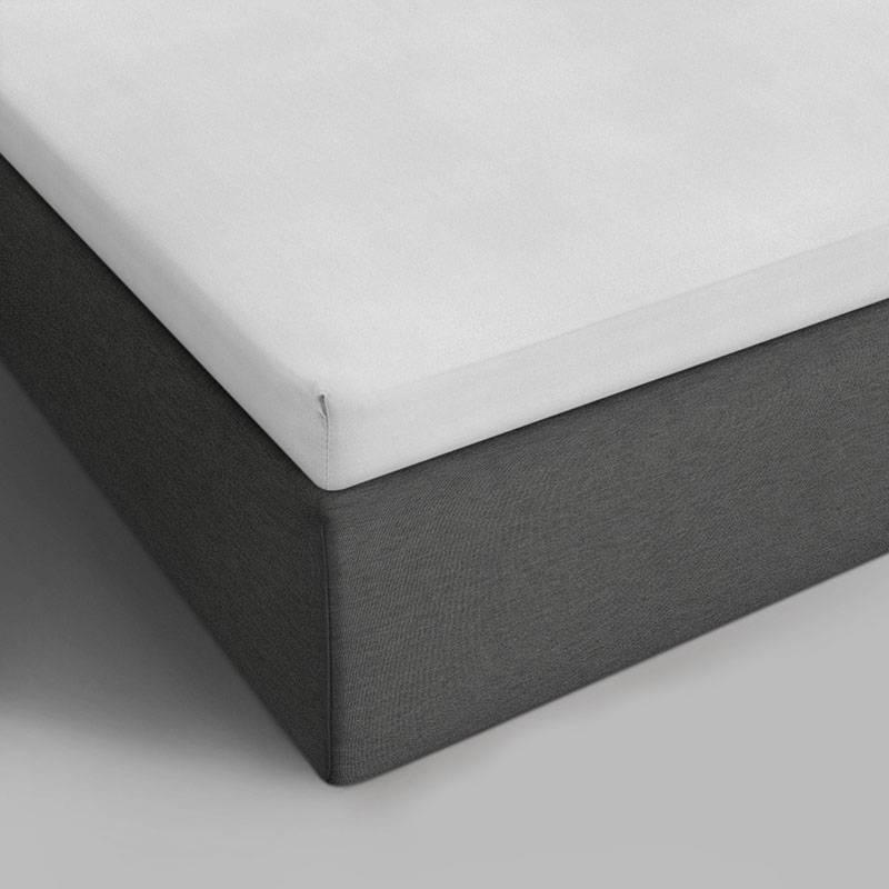 DreamHouse Bedding 2-PACK Katoenen Topper Hoeslakens - Wit 160 x 220