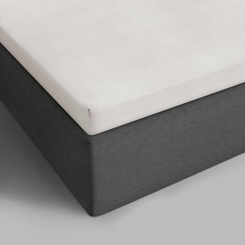 DreamHouse Bedding 2-PACK Verkoelende Katoenen Topper Hoeslakens - Creme 140 x 200