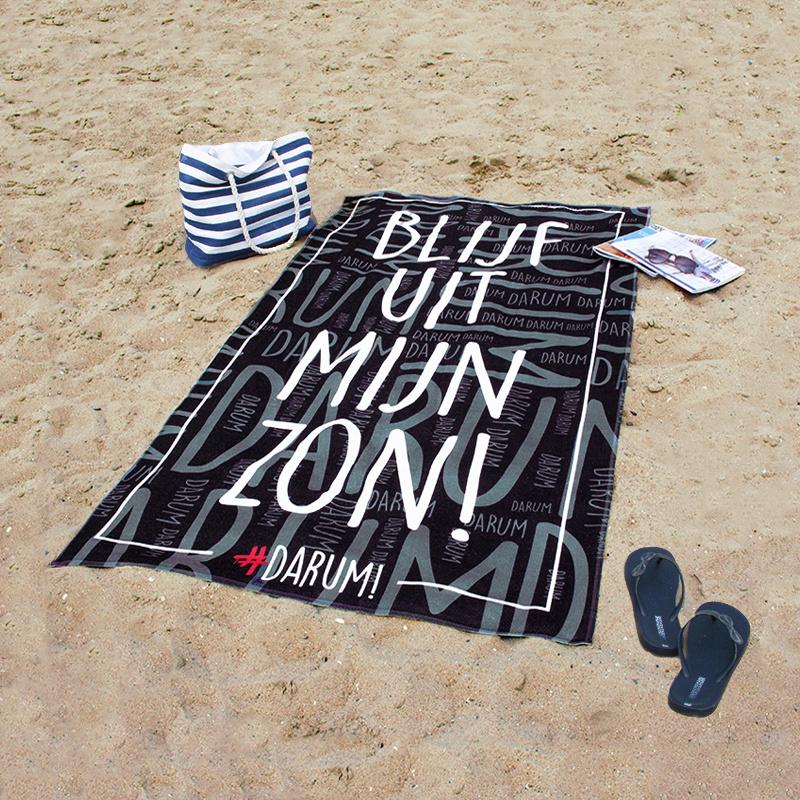 #DARUM! Strandlaken - Blijf uit mijn zon!