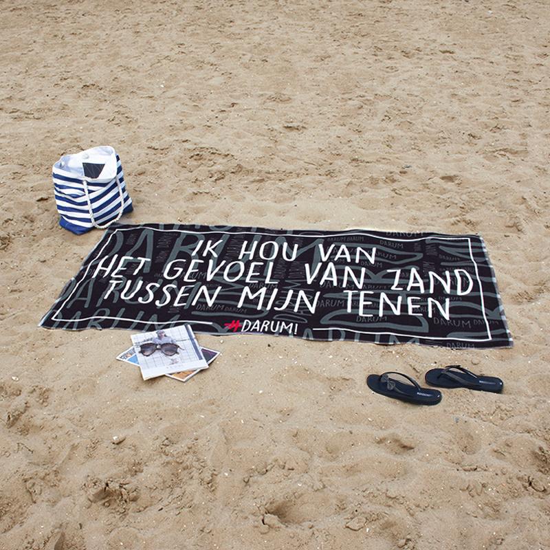 #DARUM! Strandlaken - Zand tussen mijn tenen