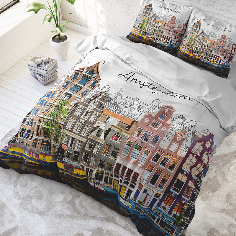 DreamHouse Bedding Old Amsterdam - Multi 2-persoons (200 x 220 cm + 2 kussenslopen) Dekbedovertrek