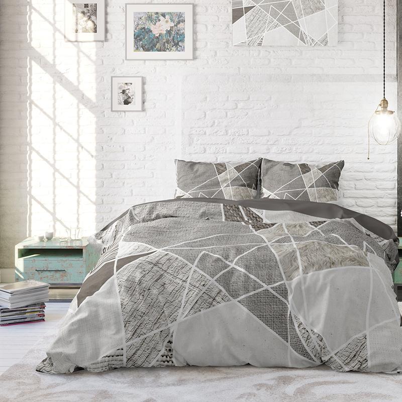 DreamHouse Bedding Furtrix - Taupe Lits-jumeaux (240 x 220 cm + 2 kussenslopen) Dekbedovertrek