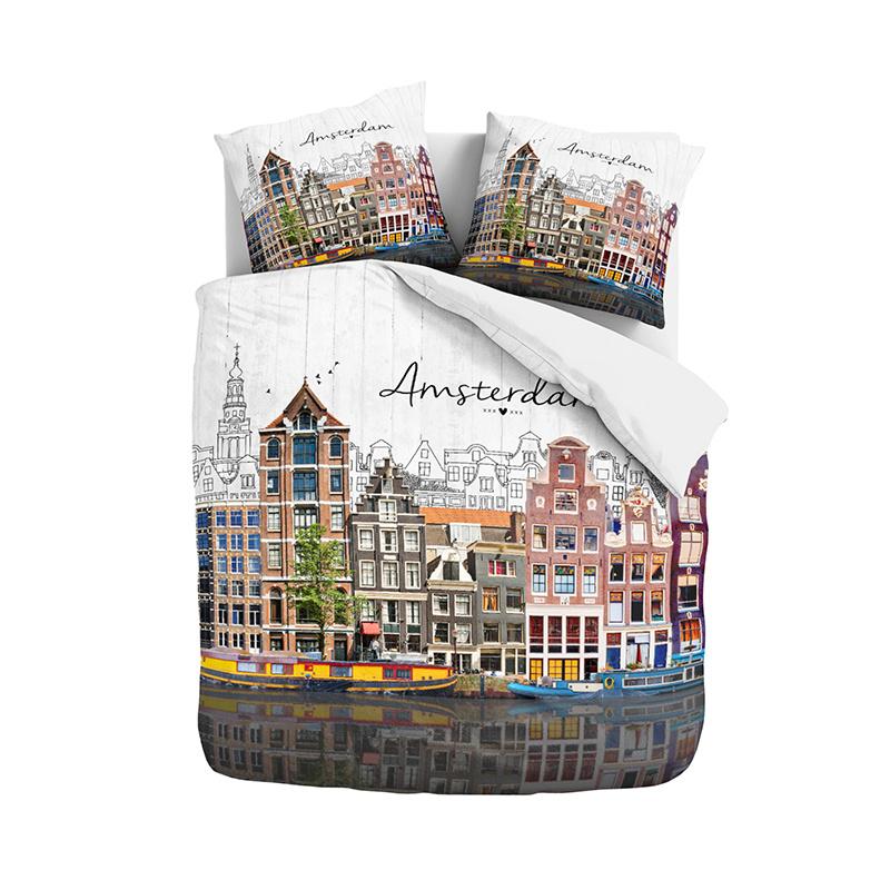 DreamHouse Bedding Old Amsterdam - Multi Lits-jumeaux (240 x 220 cm + 2 kussenslopen) Dekbedovertrek