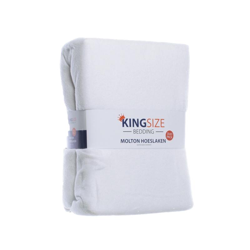Kingsize Bedding 2-PACK Kingsize Molton Hoeslakens 160 x 200 cm