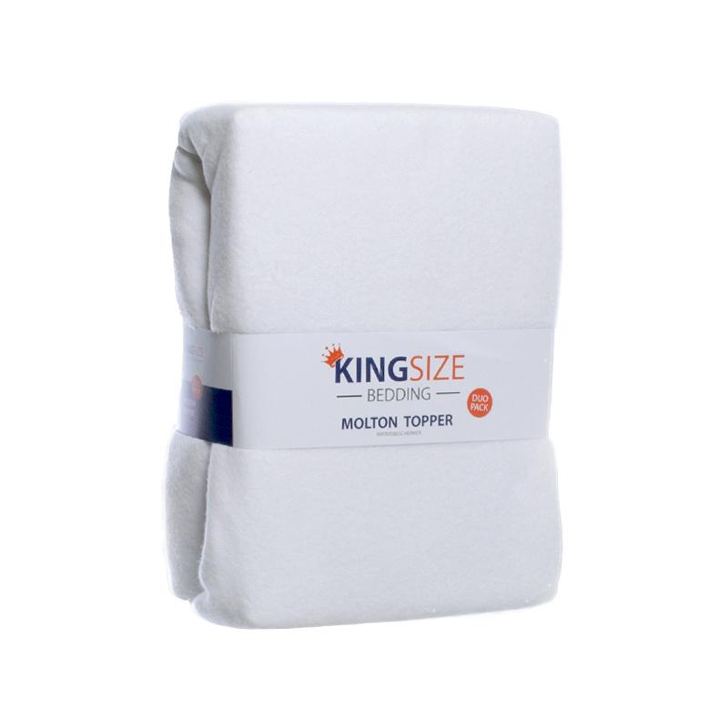 Kingsize Bedding 2-PACK Kingsize Molton Topper Hoeslakens 180 x 200 cm