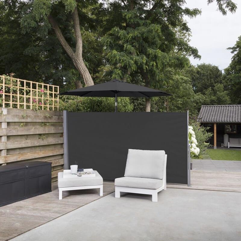 Afbeelding van 909 Outdoor Oprolbaar Windscherm Zwart - 150 x 300 cm