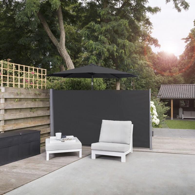 Afbeelding van 909 Outdoor Oprolbaar Windscherm Zwart - 170 x 300 cm