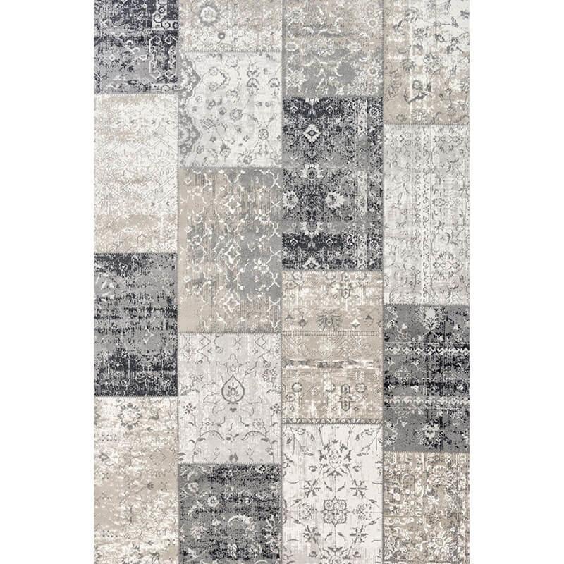 Lifa Living Vloerkleed - Patchwork - Donker Grijs 133 x 200 cm