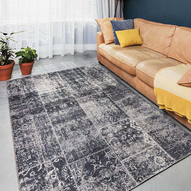 Vloerkleed - Patchwork - Grijs Lifa Living Patroon 80 x 150 cm - Ga naar Dekbed-Discounter.nl & Prof