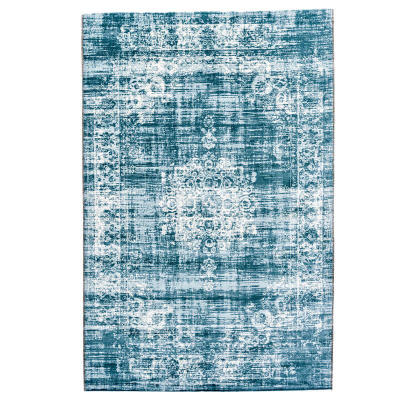Vloerkleed - Vintage - Lichtblauw Lifa Living Patroon 80 x 150 cm - Ga naar Dekbed-Discounter.nl & P