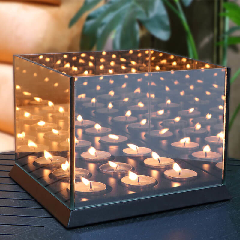 Lifa Living Candle Lights Mirror Glass XXL - Zwart