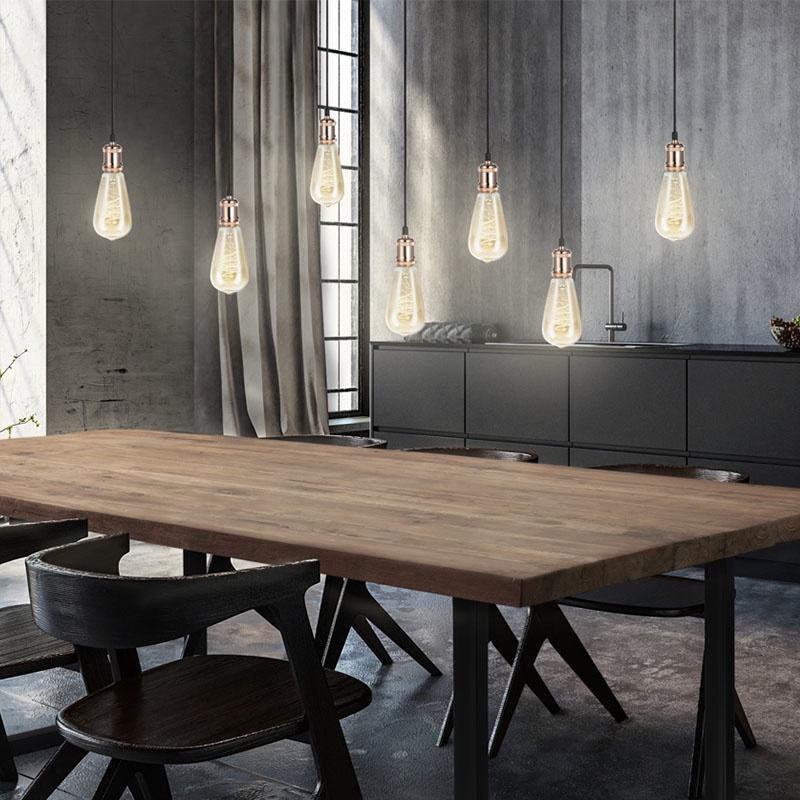 Lifa Living Hanglamp Pendel - Set van 2 - Koper