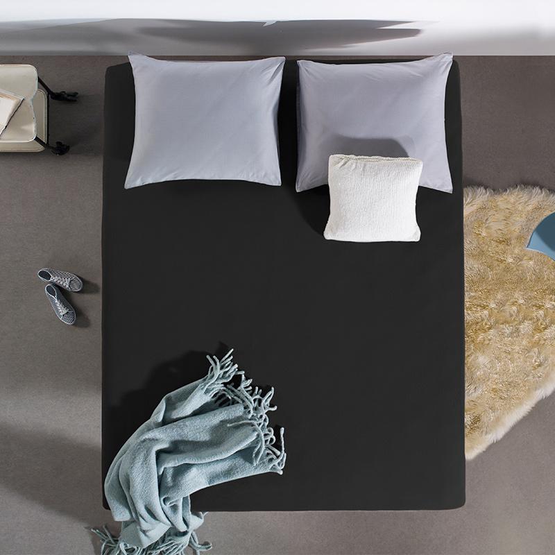 Home Care HC Dubbel Jersey Hoeslaken - Zwart 190/200 x 220 cm