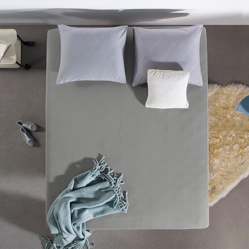 Jersey Hoeslaken - 80/90/100x200 cm - Grijs - Home Care - Ga naar Dekbed-Discounter.nl & Profiteer N