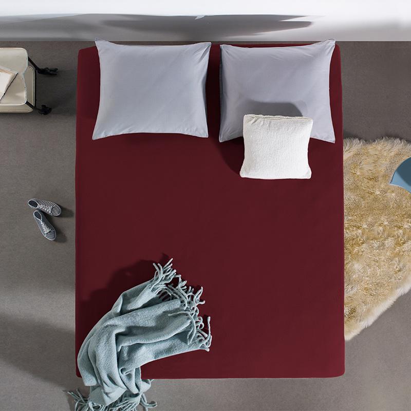 Home Care HC Dubbel Jersey Hoeslaken - Bordeaux 140 x 200/220
