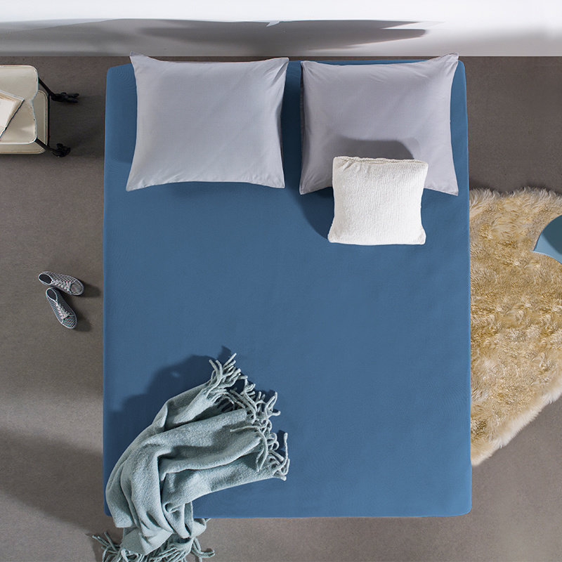 Home Care HC Dubbel Jersey Hoeslaken - Blauw 140 x 200/220