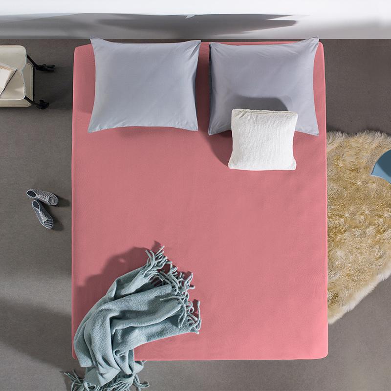 Jersey Hoeslaken - 80/90/100x200 cm - Roze - Home Care - Ga naar Dekbed-Discounter.nl & Profiteer Nu