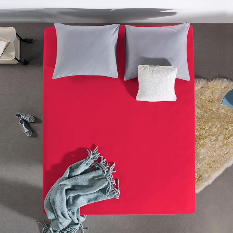 Home Care HC Dubbel Jersey Hoeslaken - Fel Roze 190/200 x 220 cm