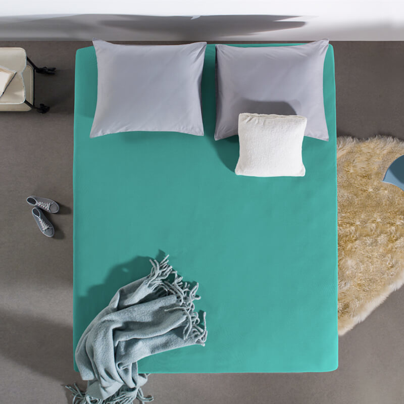Home Care HC Dubbel Jersey Hoeslaken - Turquoise 190/200 x 220 cm