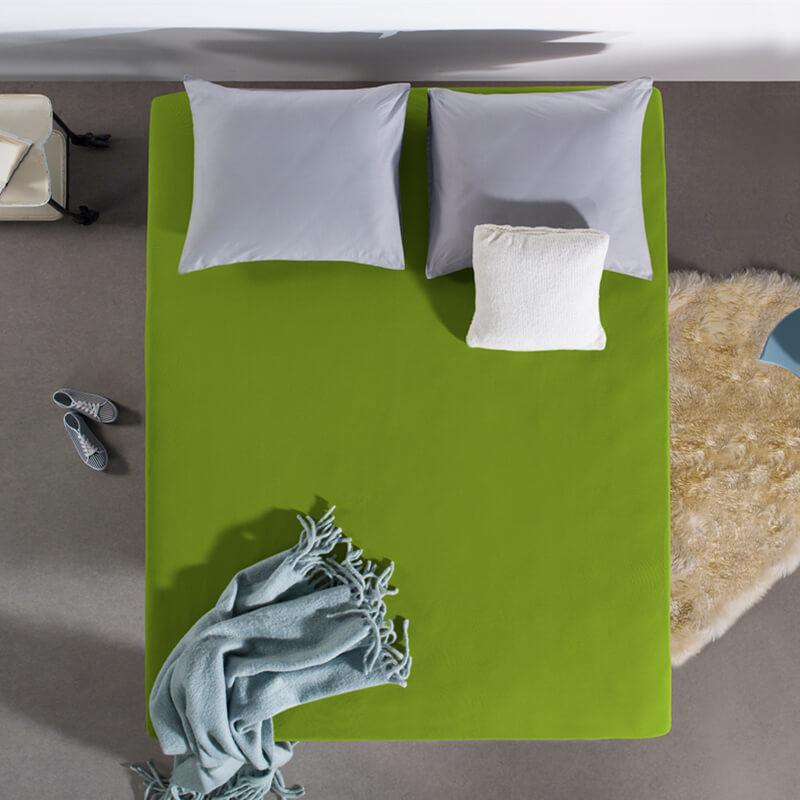 Home Care HC Dubbel Jersey Hoeslaken - Groen 190/200 x 220 cm