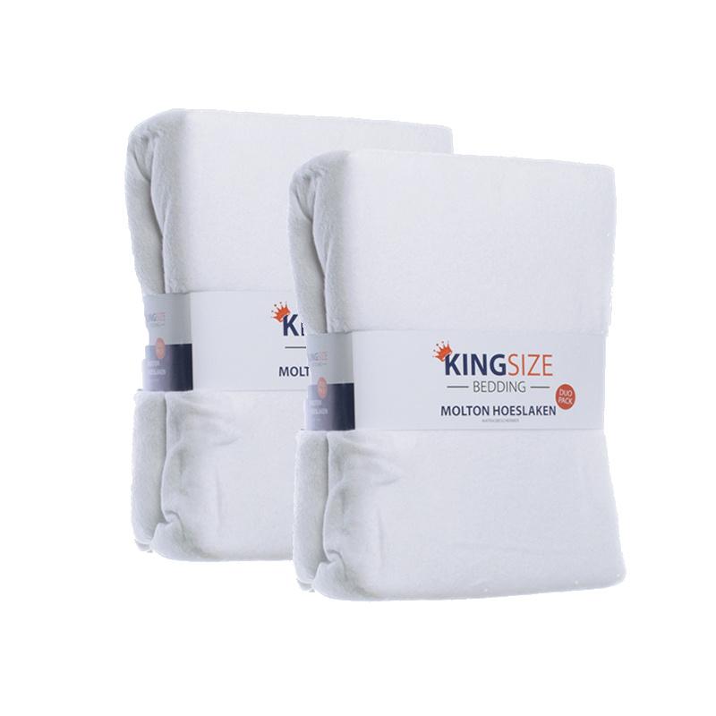 Kingsize Bedding 4-PACK Kingsize Molton Hoeslakens 180 x 200 cm