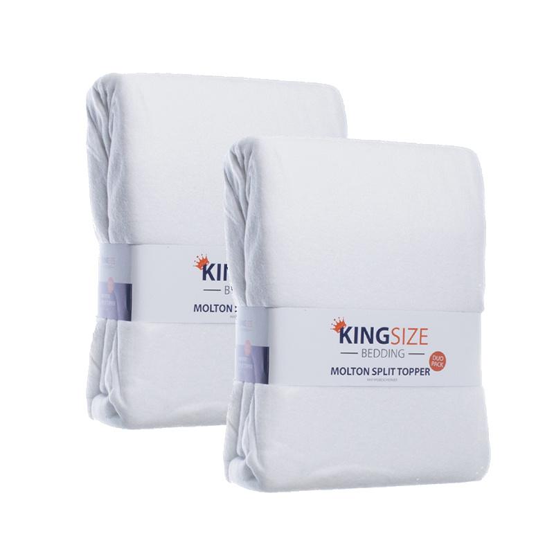 Kingsize Bedding 4-PACK Kingsize Molton Splittopper Hoeslakens 160 x 200 cm