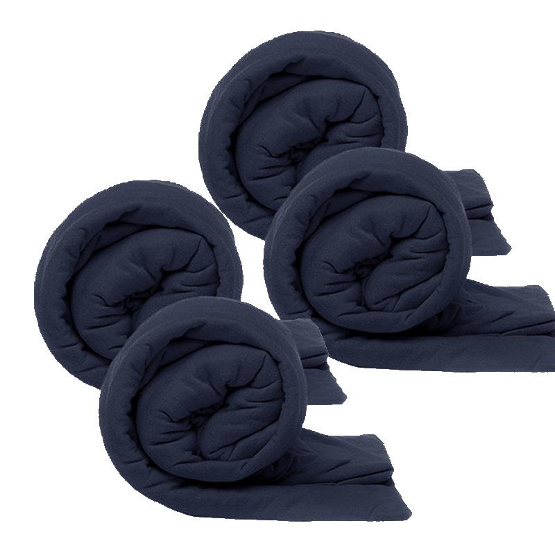 Kingsize Bedding 4-PACK Kingsize Jersey Hoeslakens - Navy 180 x 200 cm