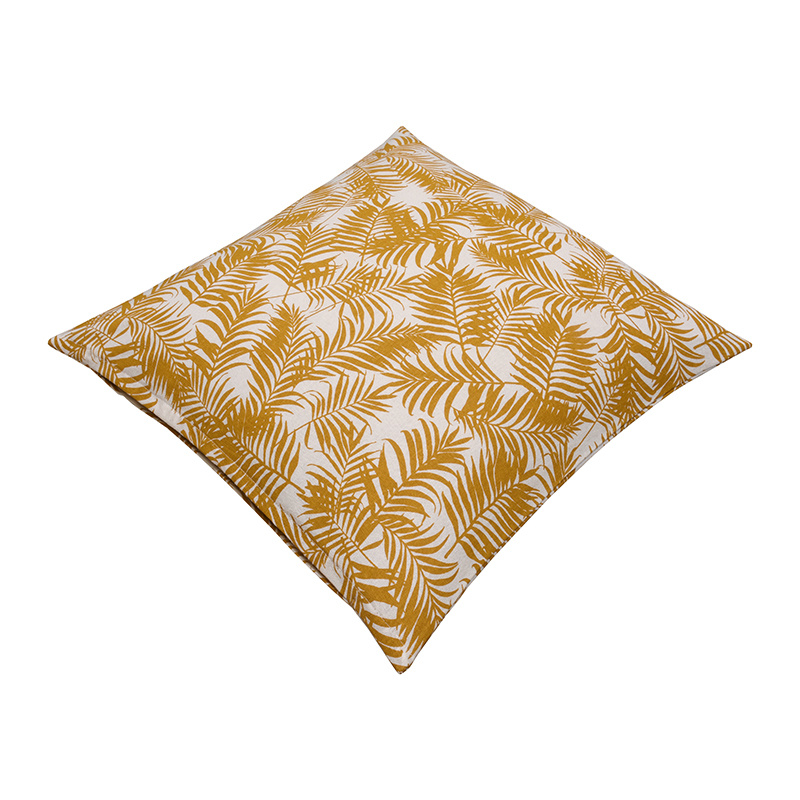 Fresh & Co Sierkussenhoes Palm Leaf - Geel