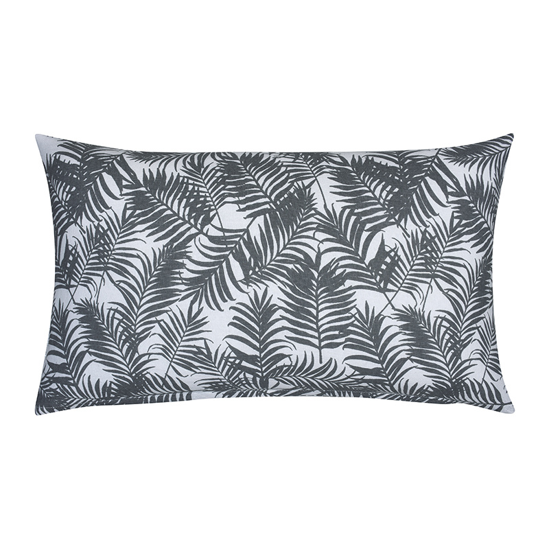 Fresh & Co Sierkussenhoes Palm Leaf - Grijs