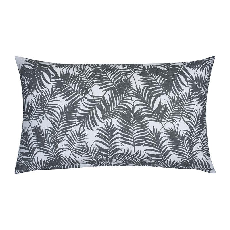 Sierkussenhoes Palm Leaf - Grijs - 30 x 50 cm Fresh & Co Soort: Sierkussenhoes - Ga naar Dekbed-Disc