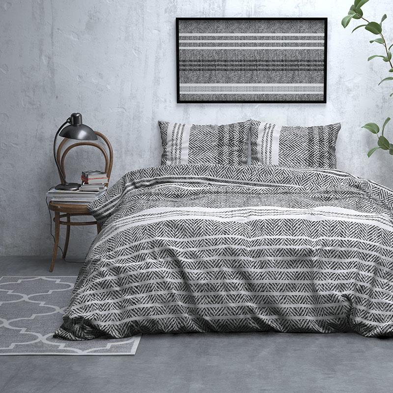 DreamHouse Bedding Marley - Verwarmend Flanel - Grijs Lits-jumeaux (240 x 200/220 cm + 2 kussenslope