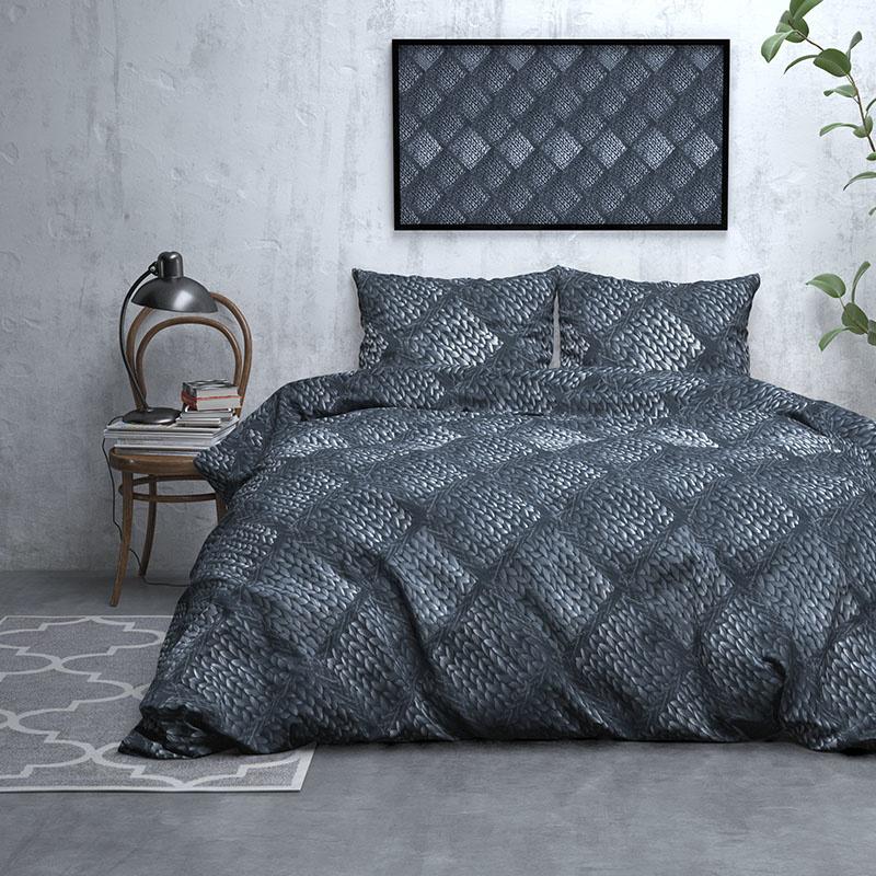 DreamHouse Bedding Diana - Verwarmend Flanel - Blauw Lits-jumeaux (240 x 200/220 cm + 2 kussenslopen