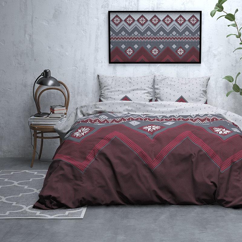 DreamHouse Bedding Nordic - Verwarmend Flanel - Rood Lits-jumeaux (240 x 200/220 cm + 2 kussenslopen