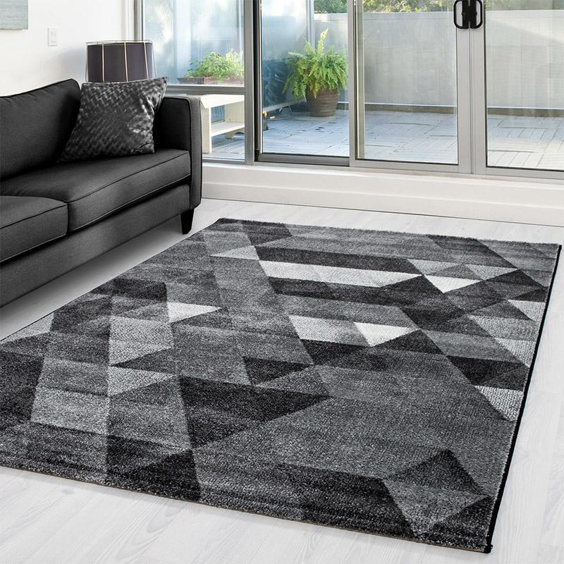 Lima Vloerkleed Triangolo - Grijs - Rechthoek 160 x 230 cm