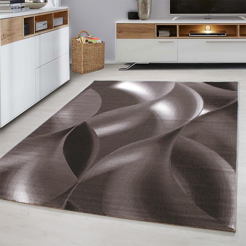 Plus Vloerkleed - Wavey - Rechthoek - Bruin 80 x 300 cm
