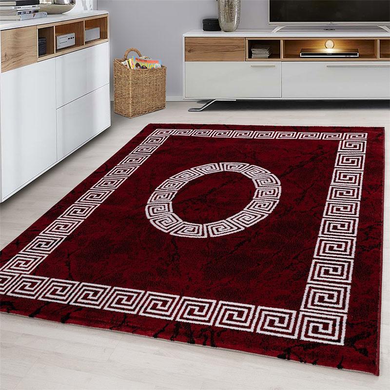 Plus Vloerkleed - Spiral - Rechthoek - Rood 80 x 150 cm
