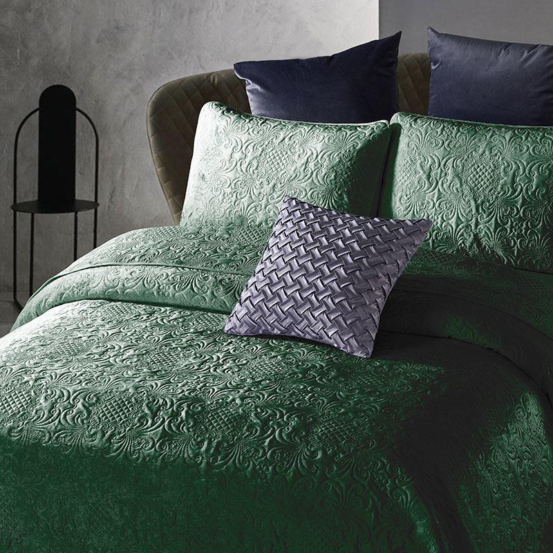 DreamHouse Bedding Bedsprei - Velvet Clara - Groen 180 x 250 cm
