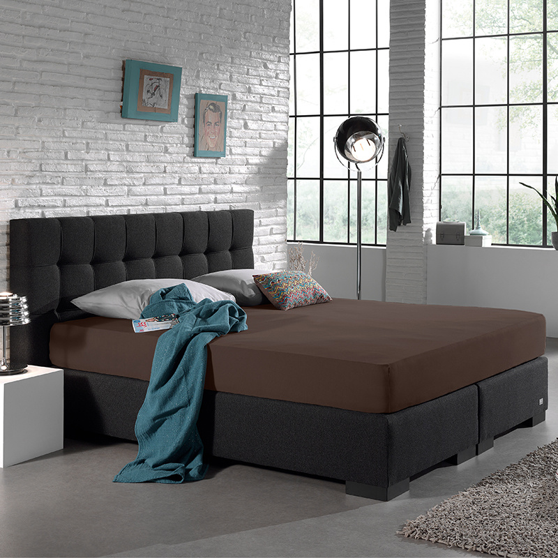 Home Care Jersey Hoeslaken - Home Care Deep Taupe 140 x 200 cm