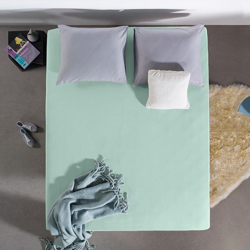 Home Care HC Dubbel Jersey Hoeslaken - Pastel Blauw 190/200 x 220 cm